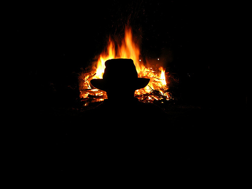 Burning Fedora